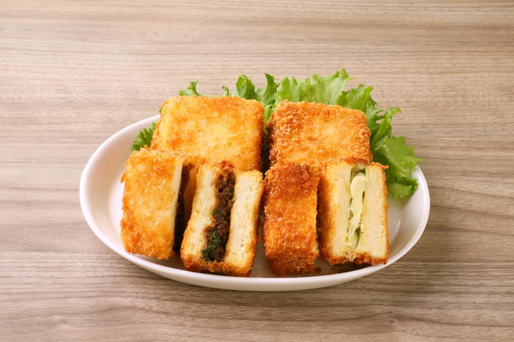 アレンジメニュー例:豆腐サンドカツ(フライ後冷凍可能)